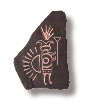 (a) Humpback Shaman Hand Carved Sandstone Small